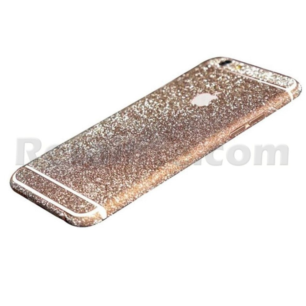 rose gold glittery iphone 6s sticker