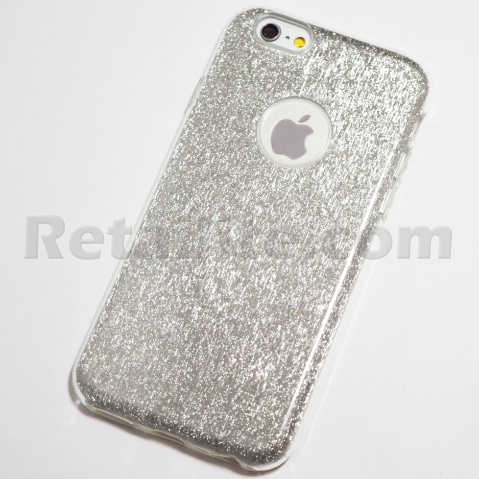 Silver Glitter Bling Case for iPhone 6 Plus   6S Plus e32530cf40