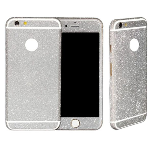 silver glittery iphone 6 plus 6s plus sticker
