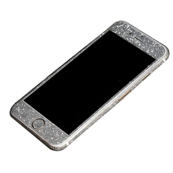 silver glittery iphone 6 plus sticker