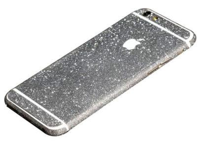 silver glittery iphone 6s plus sticker