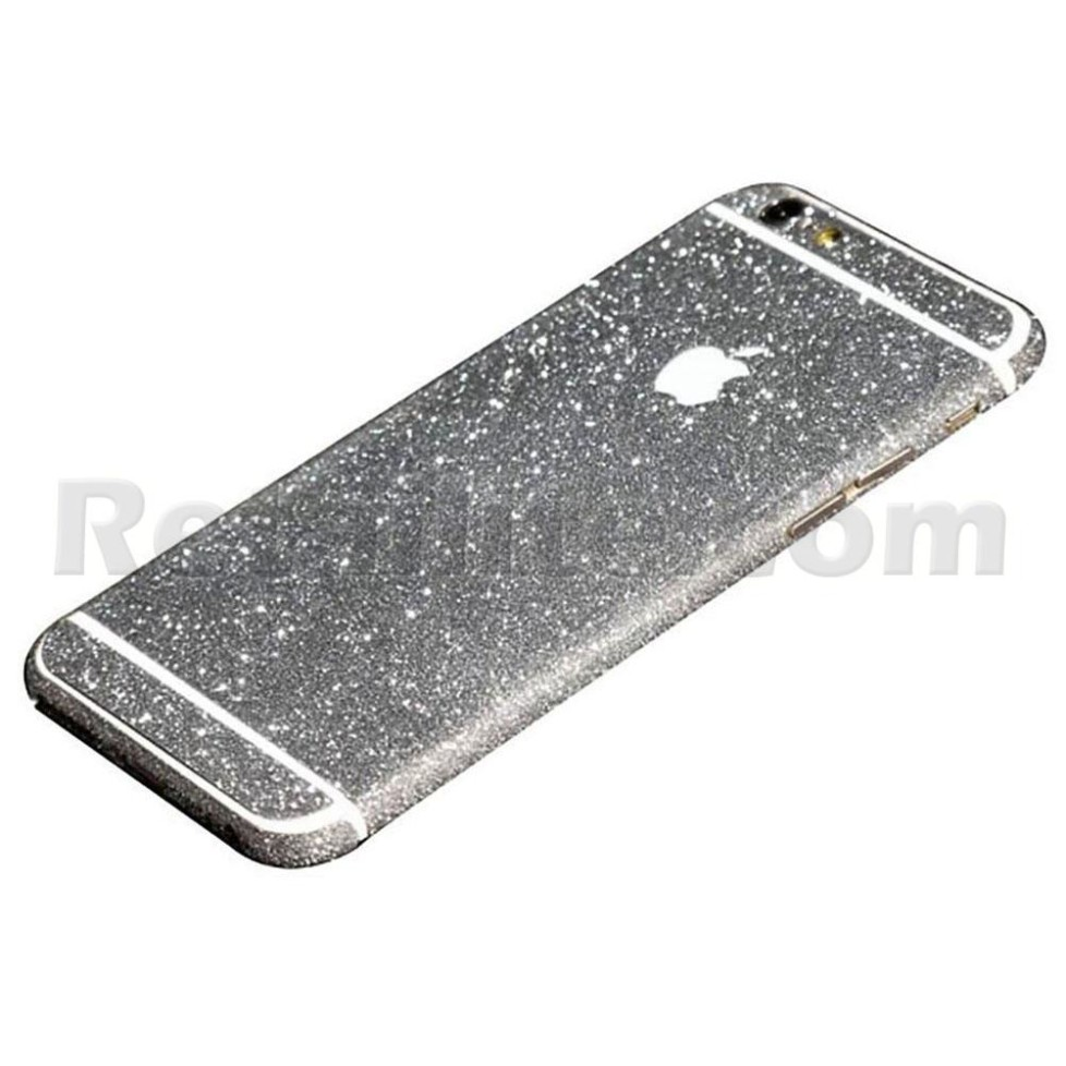 silver glittery iphone 6s sticker