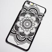 black chic flower iphone 6 case