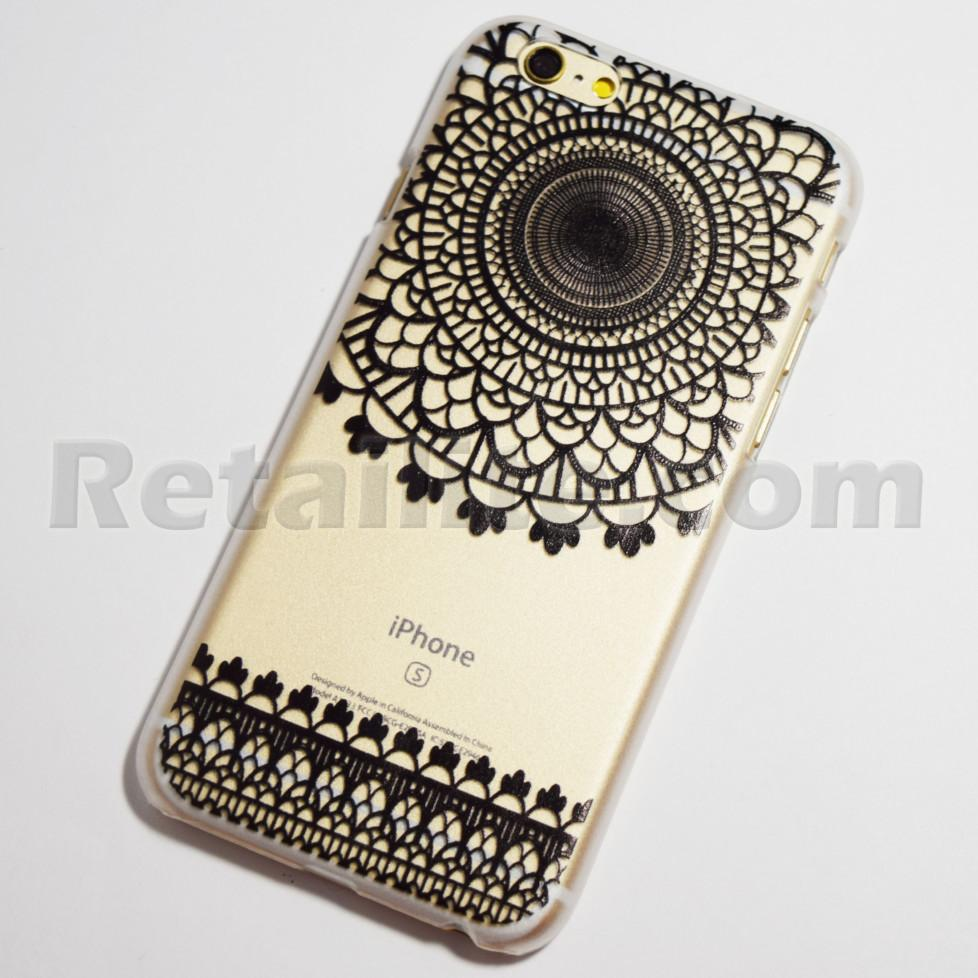 black doily henna iphone 6s case