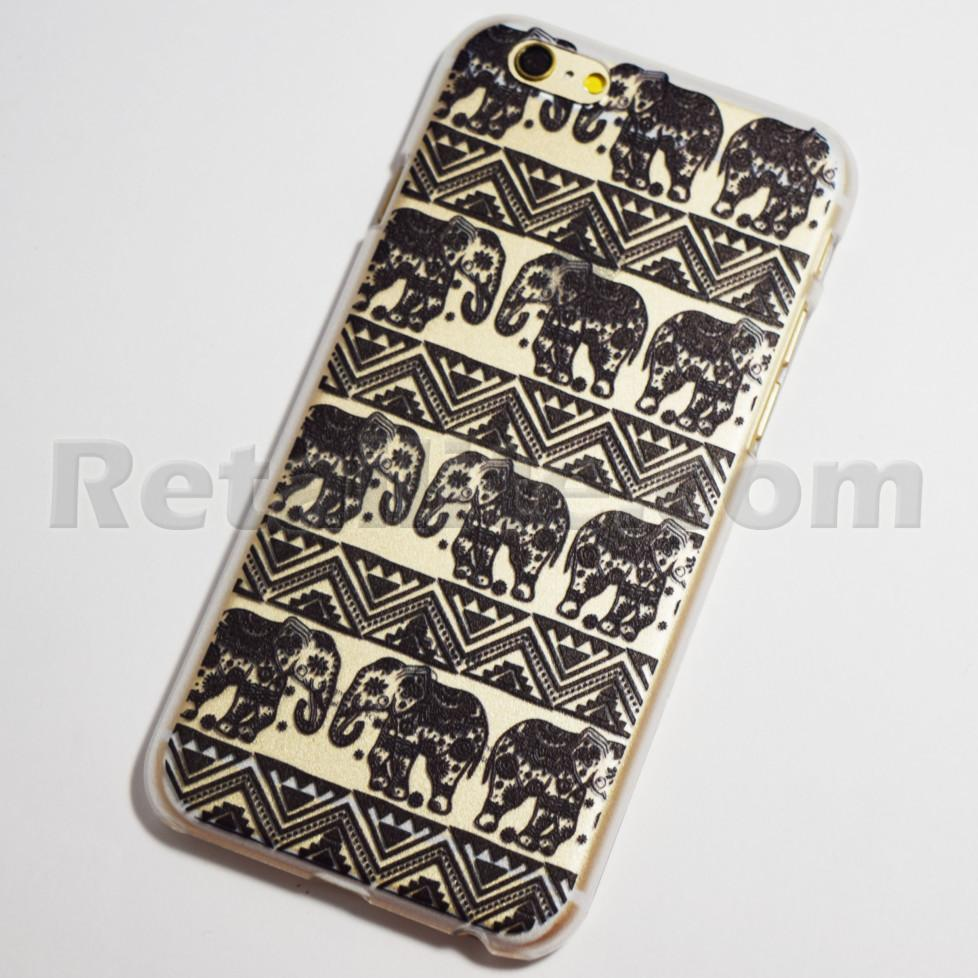 black elephants iPhone 6s hard case