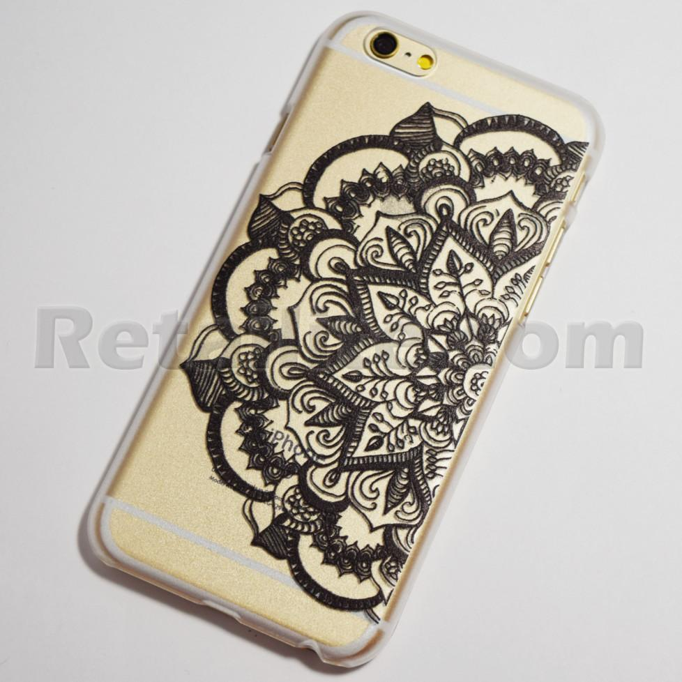 black half flower iPhone 6 case