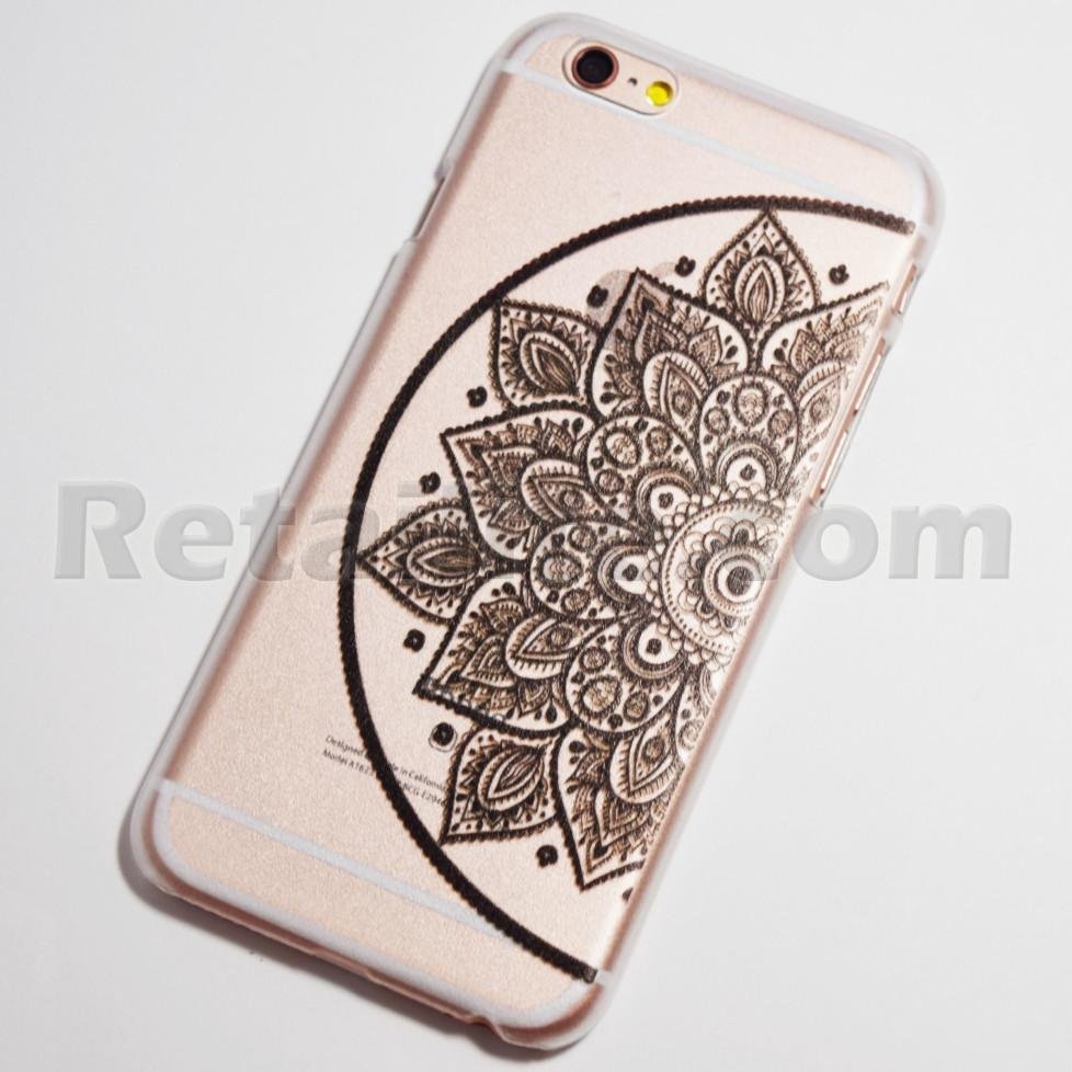 black half flower on right iPhone 6 hard case