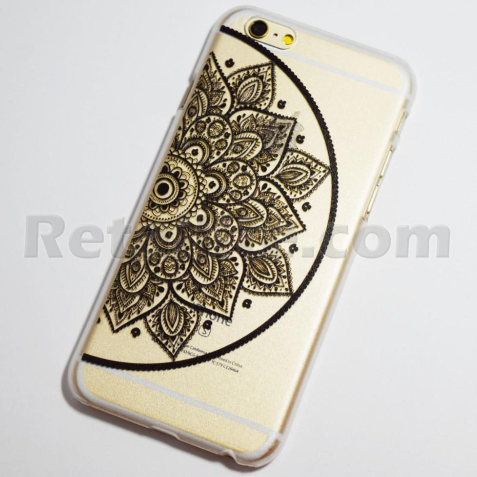 black half mandala left side iPhone 6s case