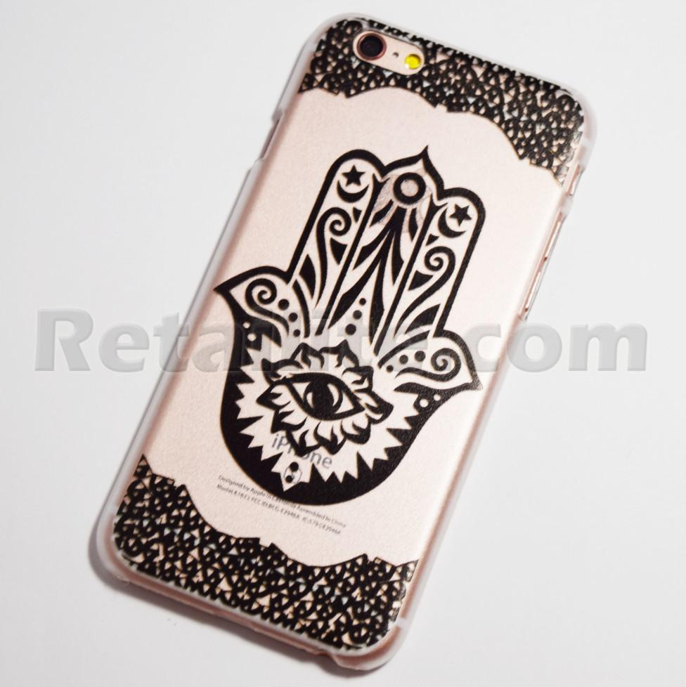 black hamsa iPhone 6s hard case