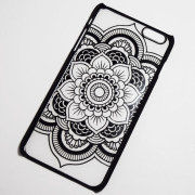 black indie flower iphone 6s case