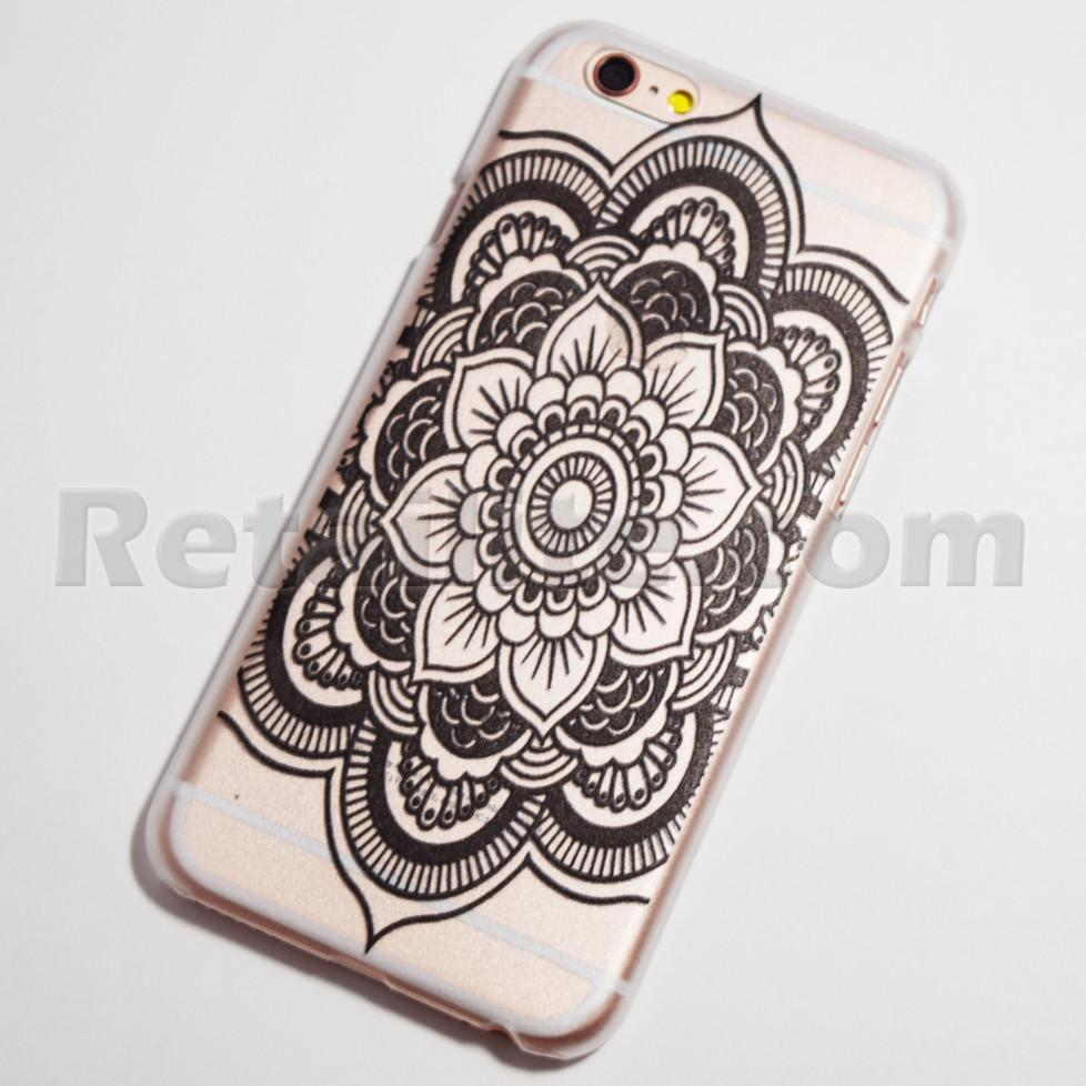 black large flower iPhone 6s Hard Case
