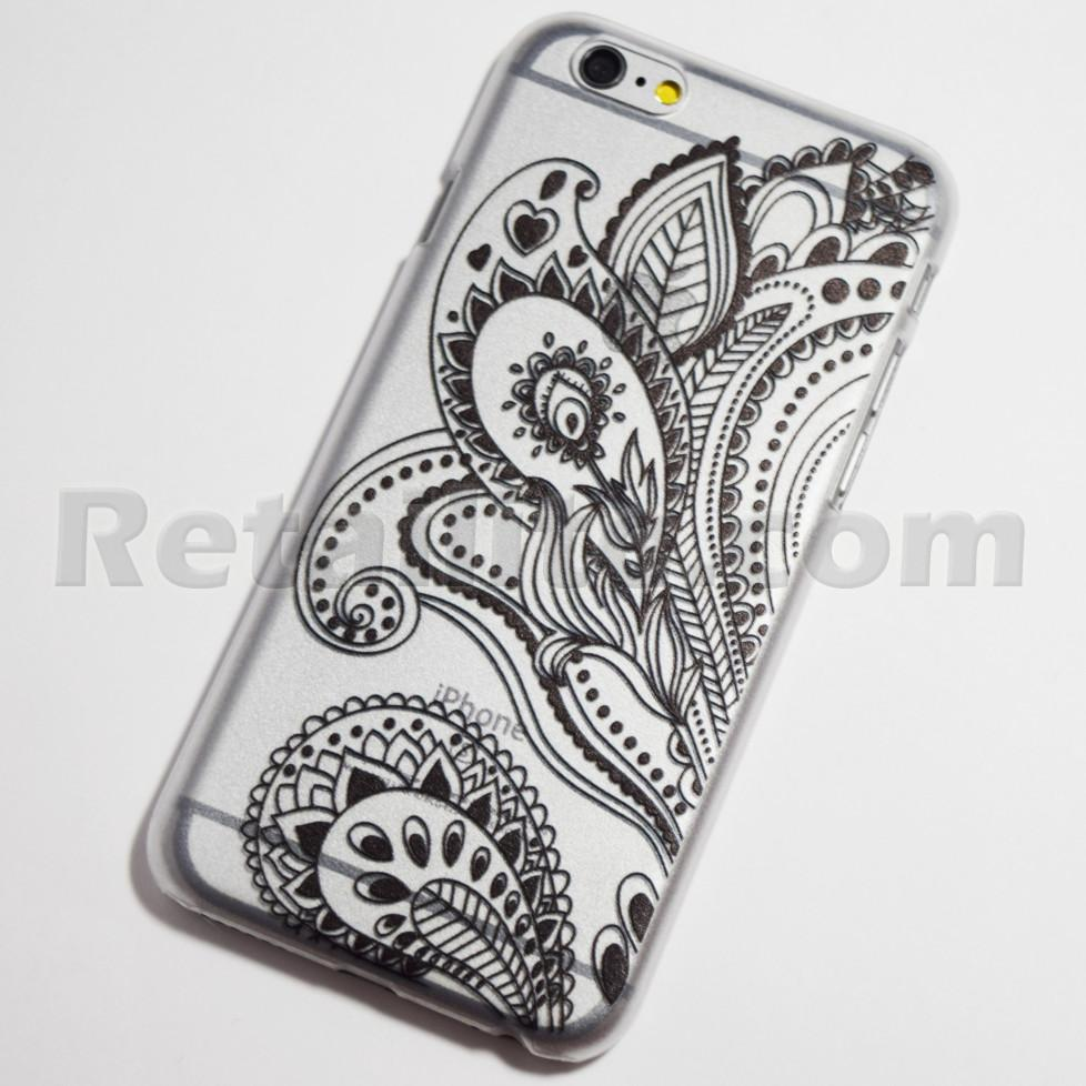 black paisely henna iphone 6 hard case