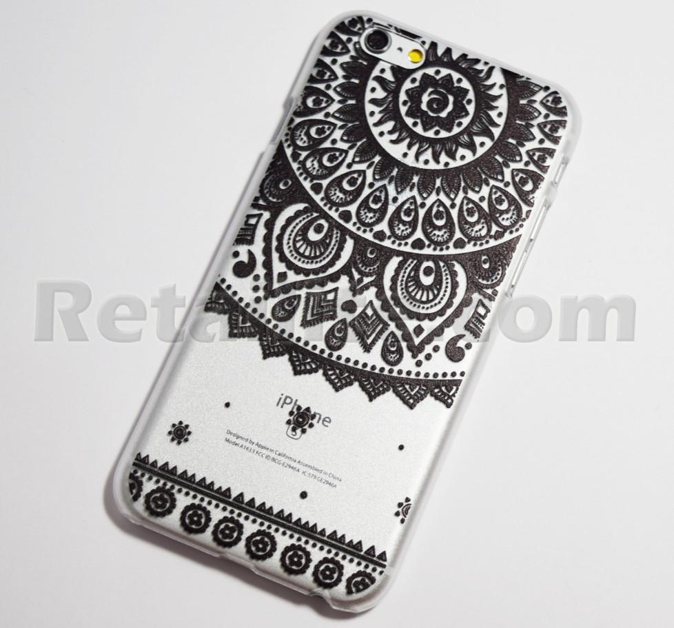 black sun doily iphone 6 case