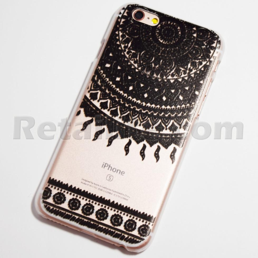 black sun ray doily mandala iPhone 6s case
