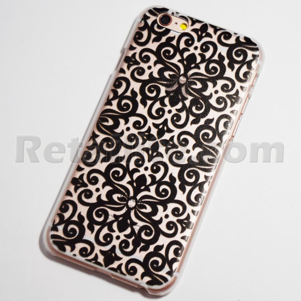black vintage wallpaper iPhone 6s case