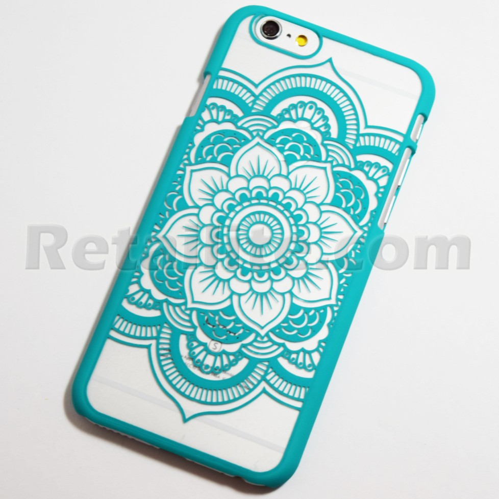 blue mandala flower iphone 6s case
