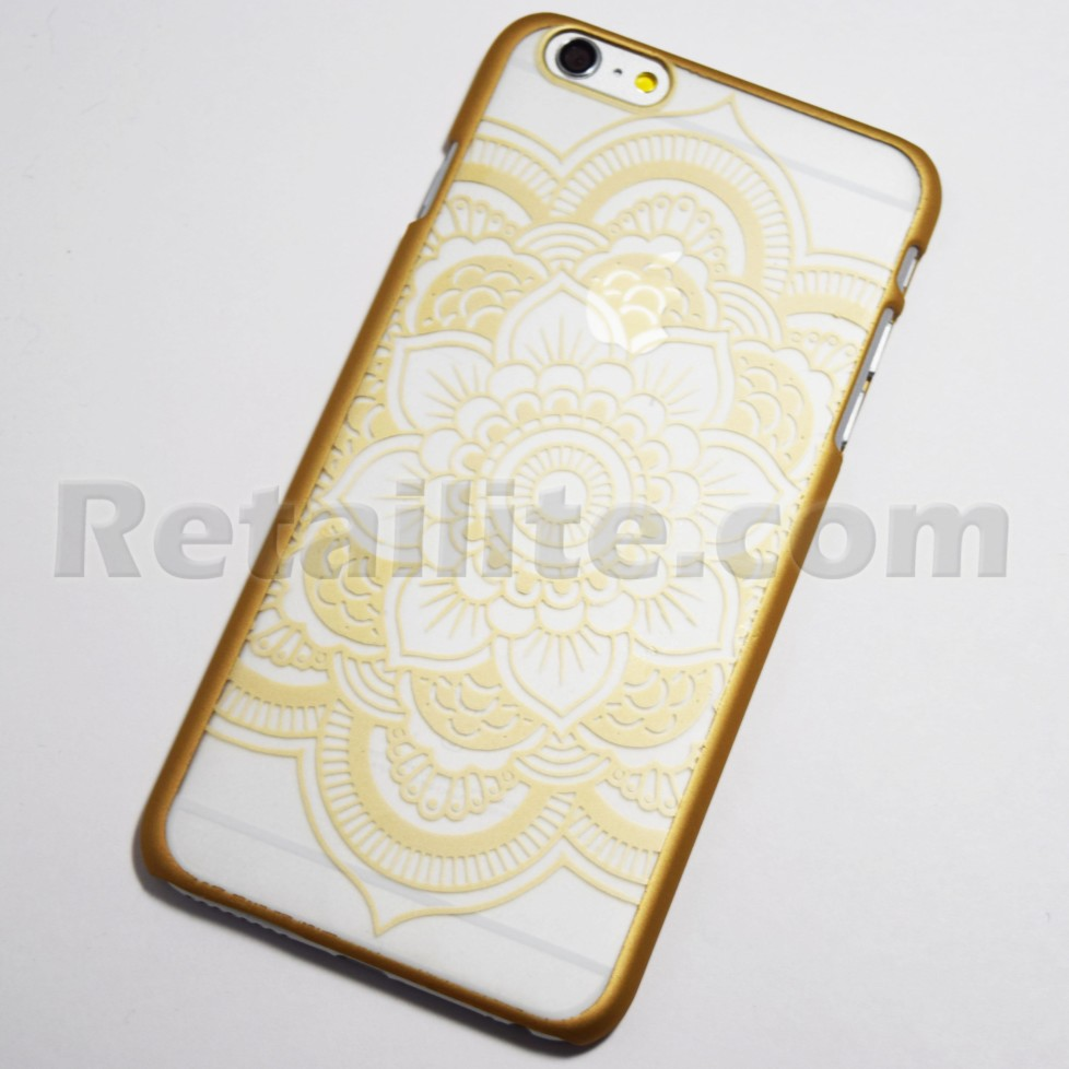 gold henna flower iphone 6 plus 6s plus hard case retailite. Black Bedroom Furniture Sets. Home Design Ideas