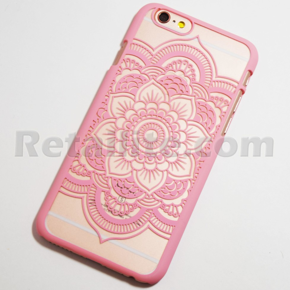 pink boho henna flower iphone 6s case