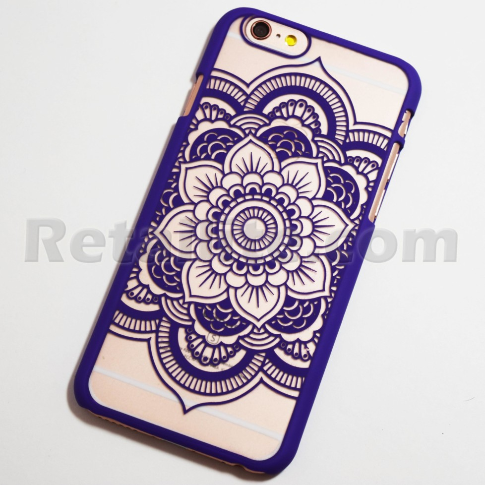 purple mandala flower iphone 6s case