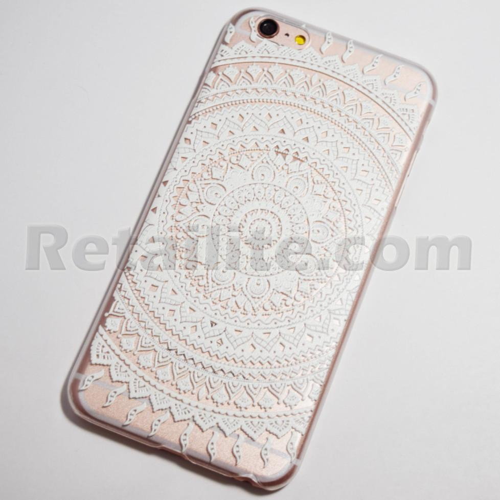 White Henna Sun Ray Iphone 6 Plus 6s Plus Hard Case Retailite