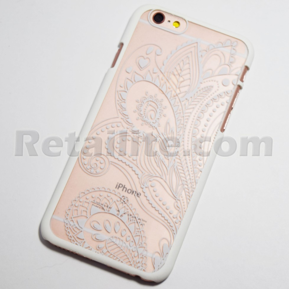 quality design 9ba8d 294bc White Henna Paisley iPhone 6 / 6S Hard Case