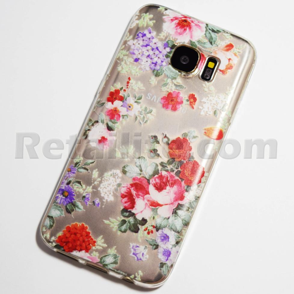 colorful flowers galaxy s7 case
