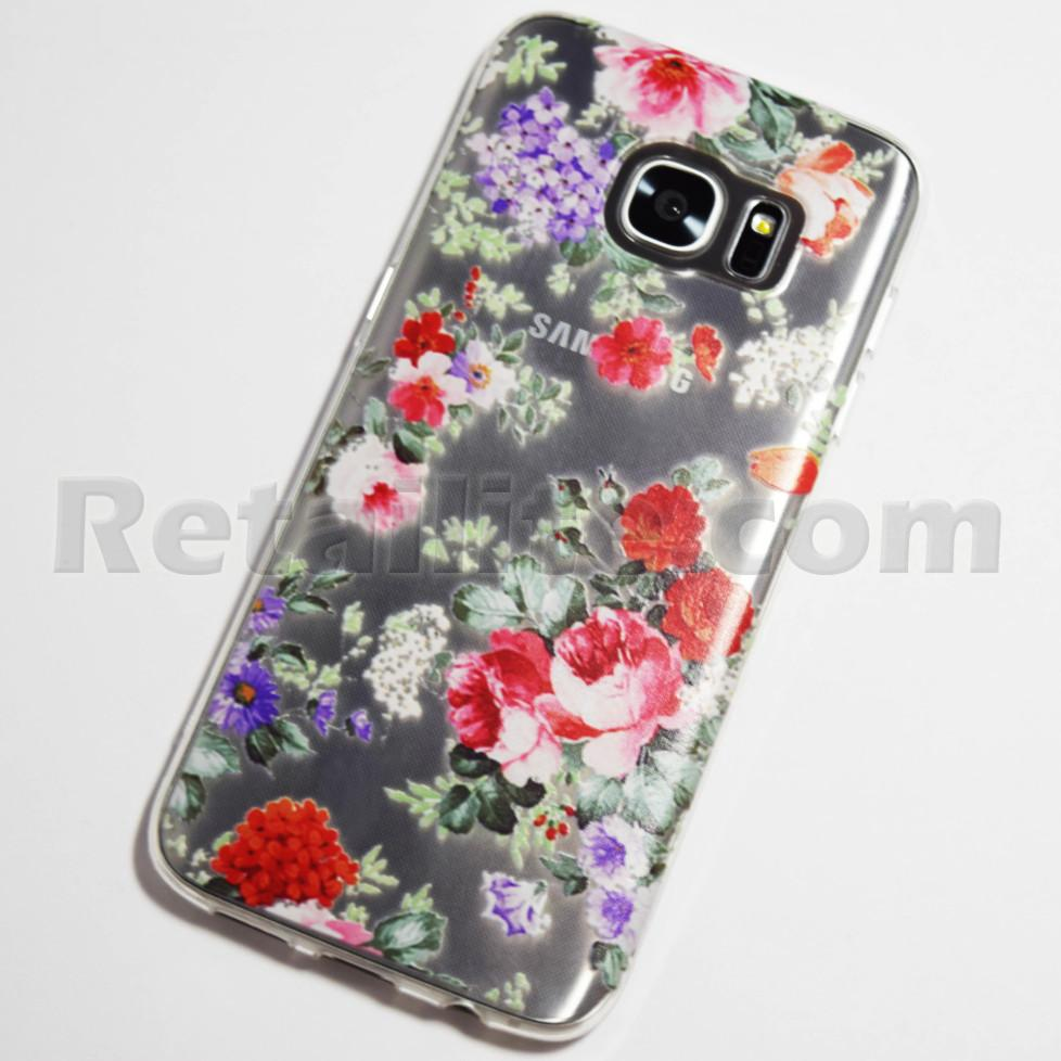 Colorful Flowers Samsung Galaxy S7 Edge Case