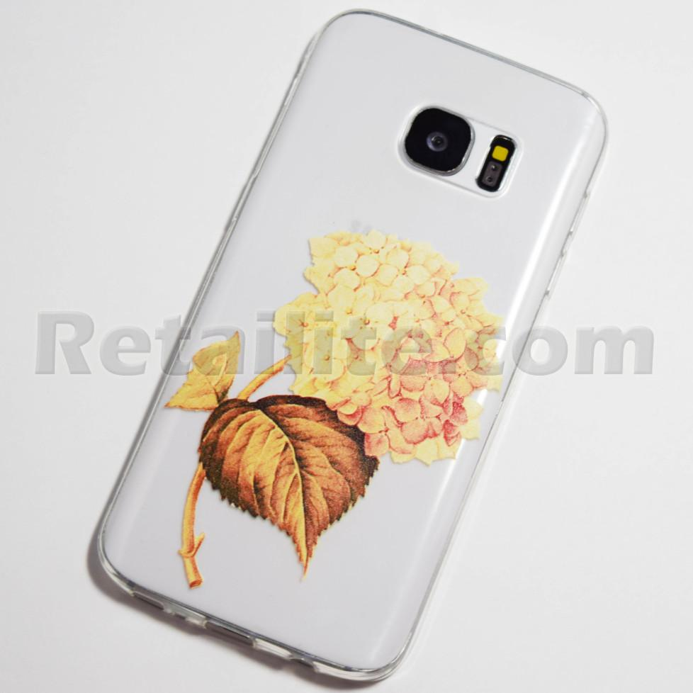 gold hydrangeas galaxy s7 case