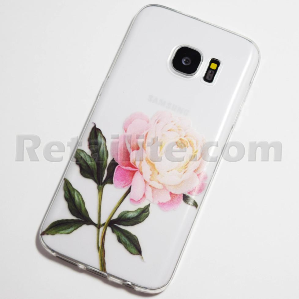 light pink rose galaxy s7 case