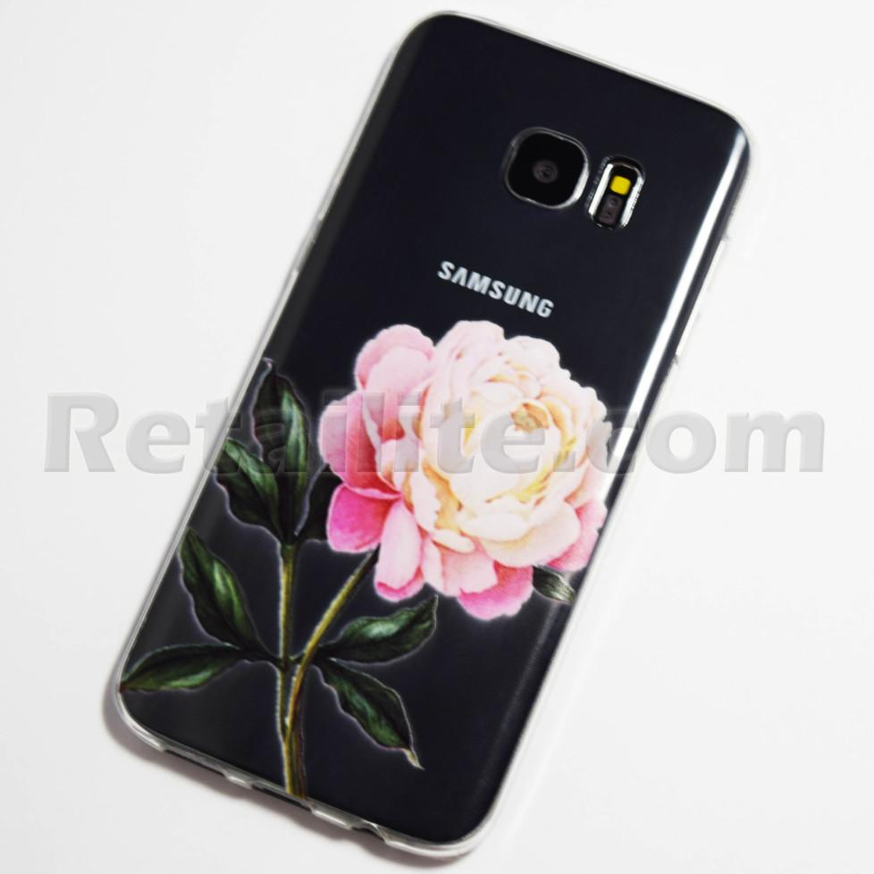 pink and white rose samsung galaxy s7 edge case retailite. Black Bedroom Furniture Sets. Home Design Ideas