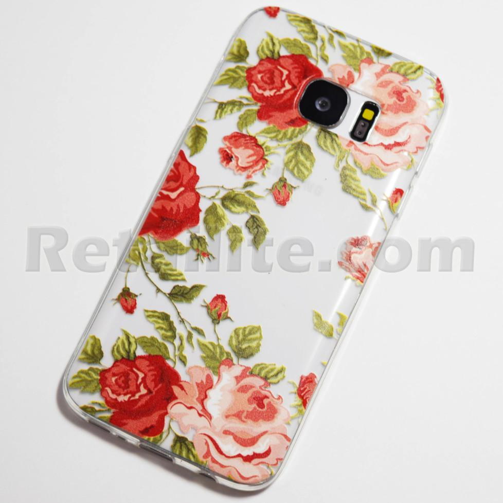 pink and red roses galaxy s7 case