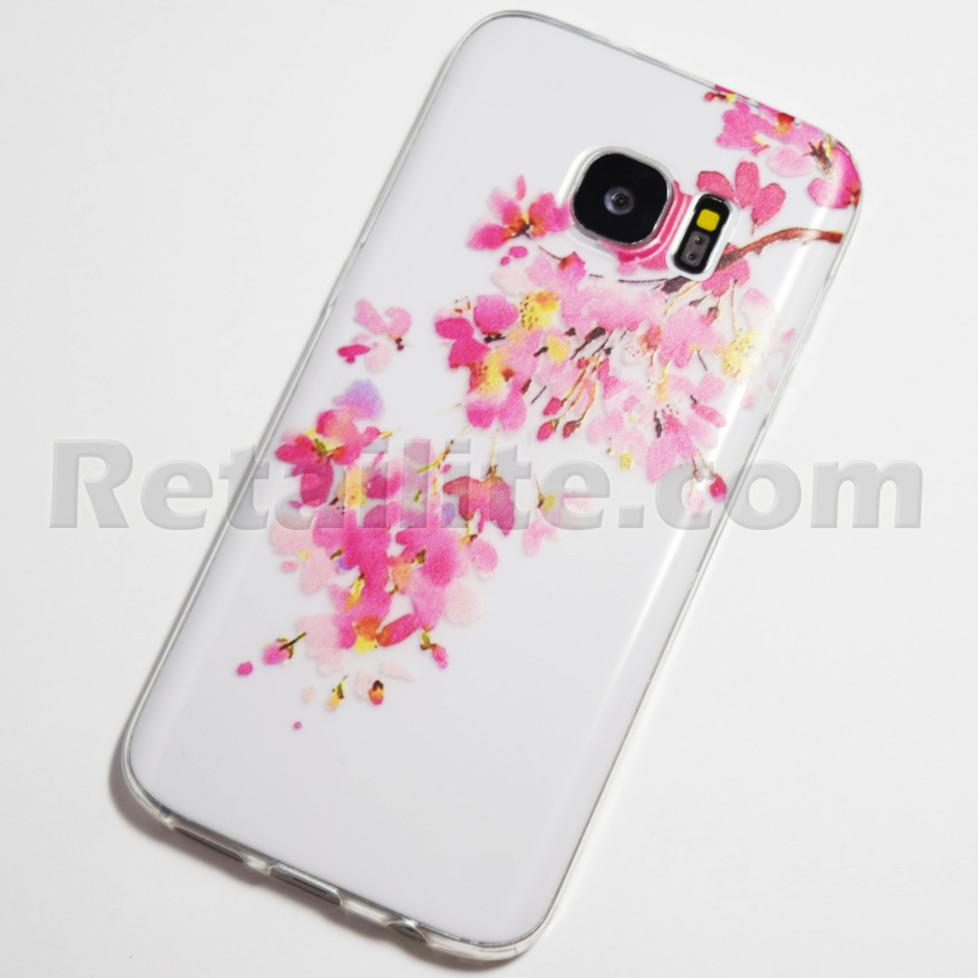 pink and yellow flower galaxy s7 case