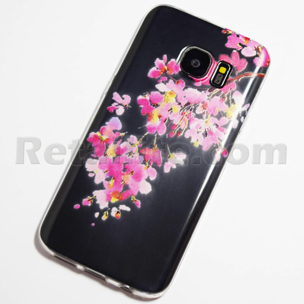Pink And Yellow Flowers Samsung Galaxy S7 Case Retailite