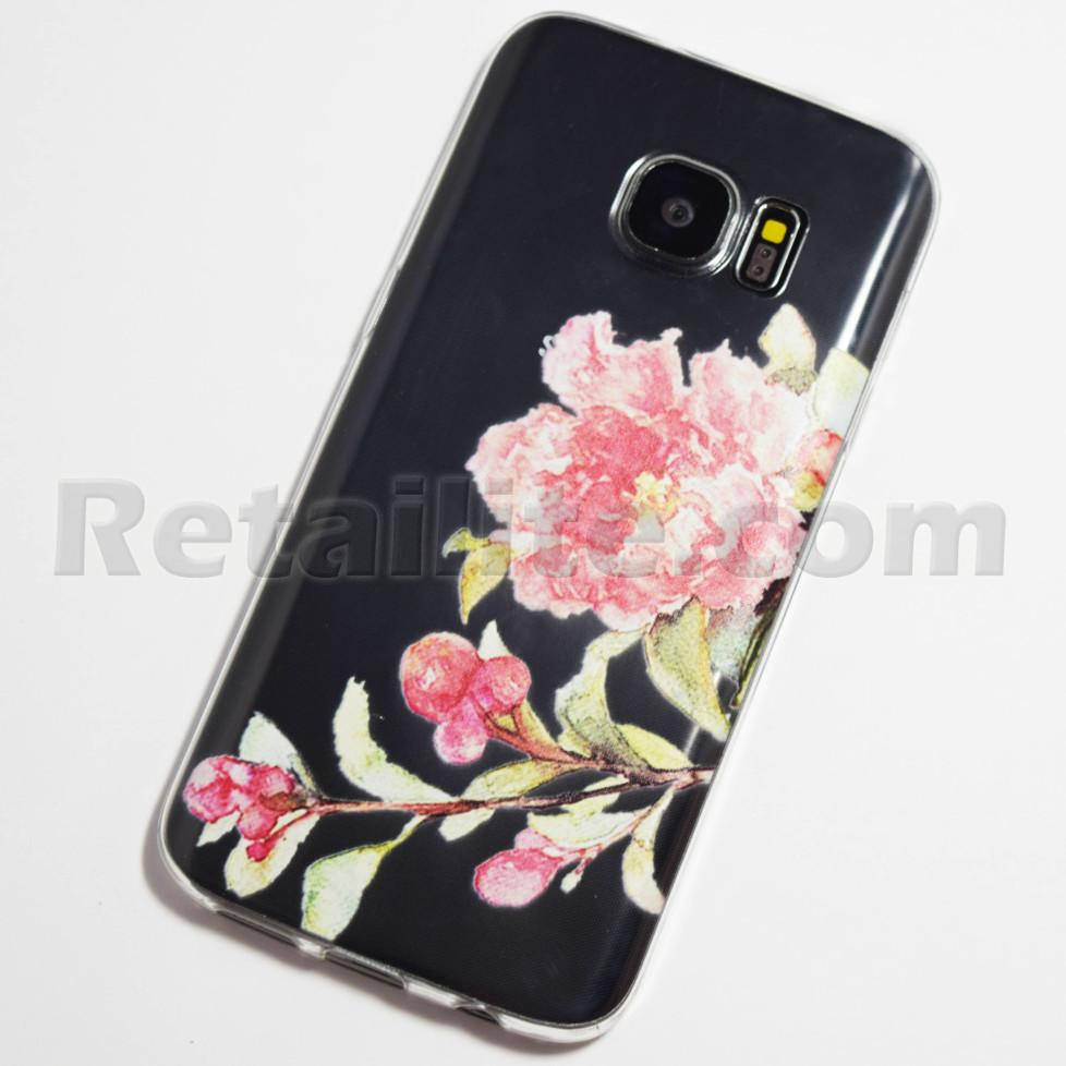 pink blooming flower samsung galaxy s7 case