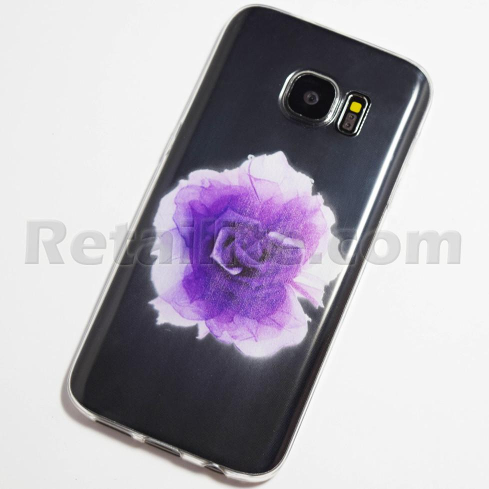 large purple rose samsung galaxy s7 case retailite. Black Bedroom Furniture Sets. Home Design Ideas
