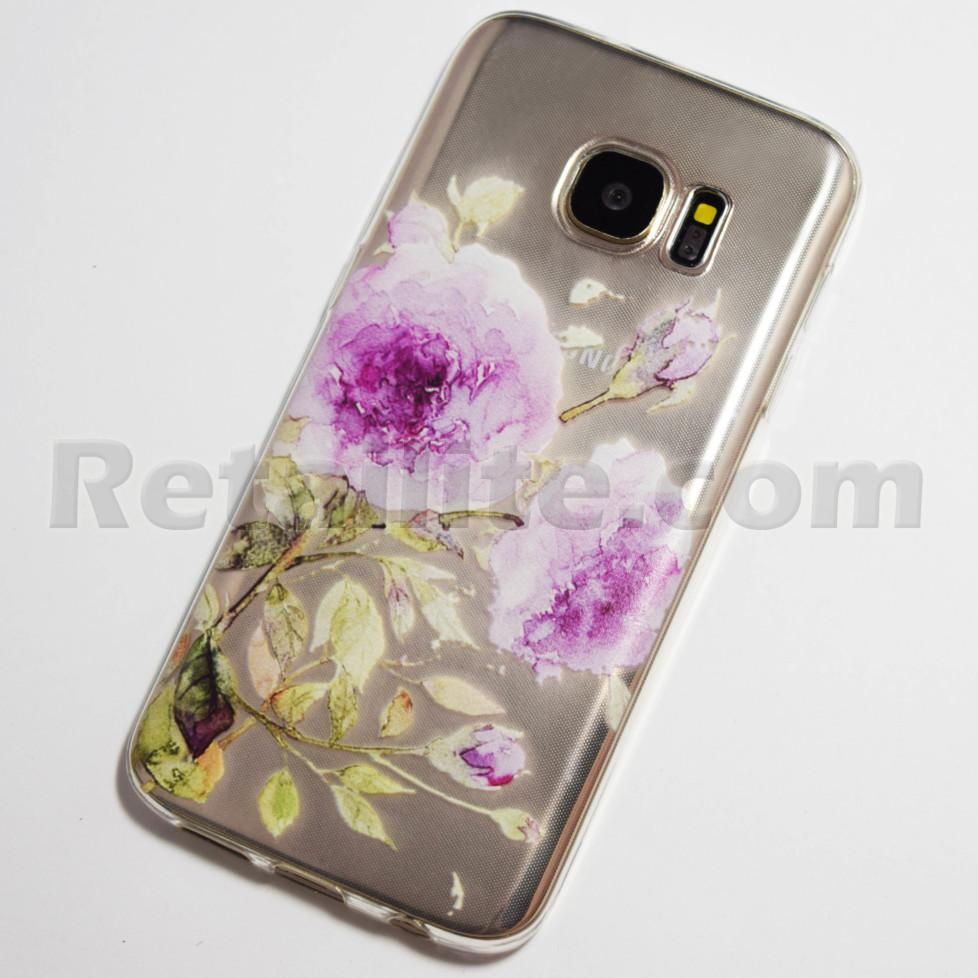 purple rose samsung galaxy s7 case