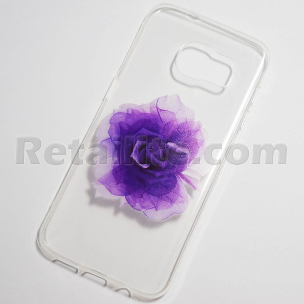 large purple rose samsung galaxy s7 edge case retailite. Black Bedroom Furniture Sets. Home Design Ideas