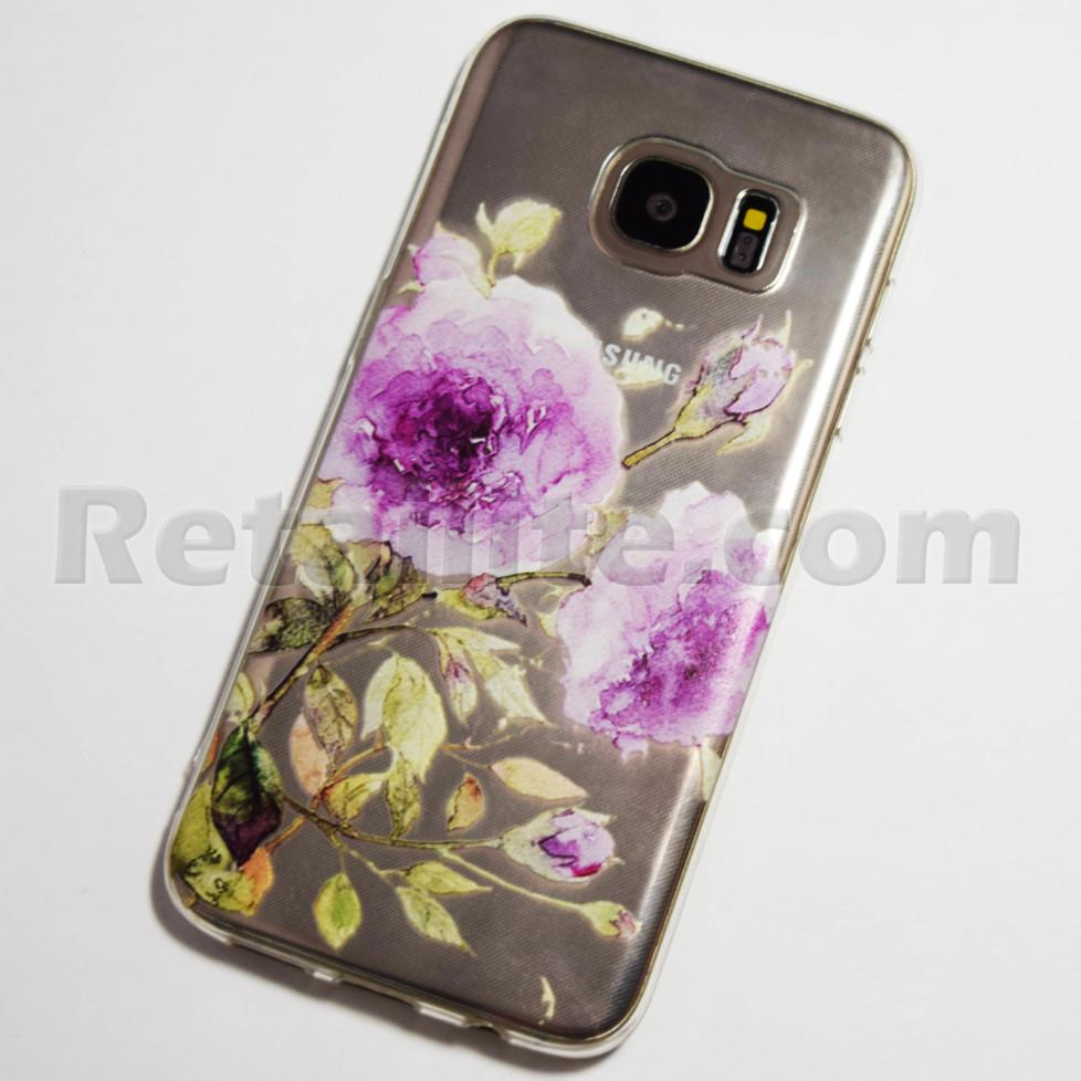 Purple Rose Samsung Galaxy S7 Edge Case Retailite