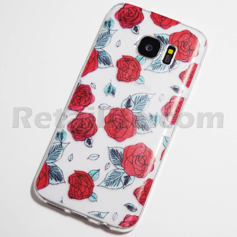 red roses galaxy s7 case