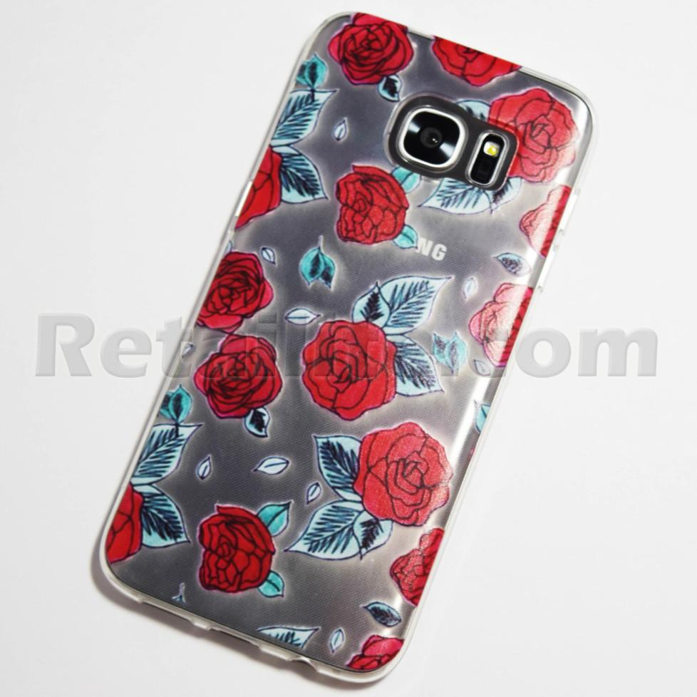 red roses galaxy s7 edge case