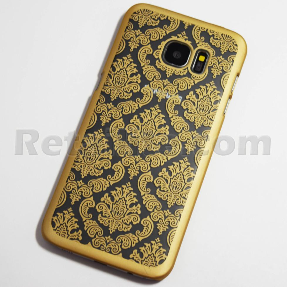 gold vintage samsung galaxy s7 edge case