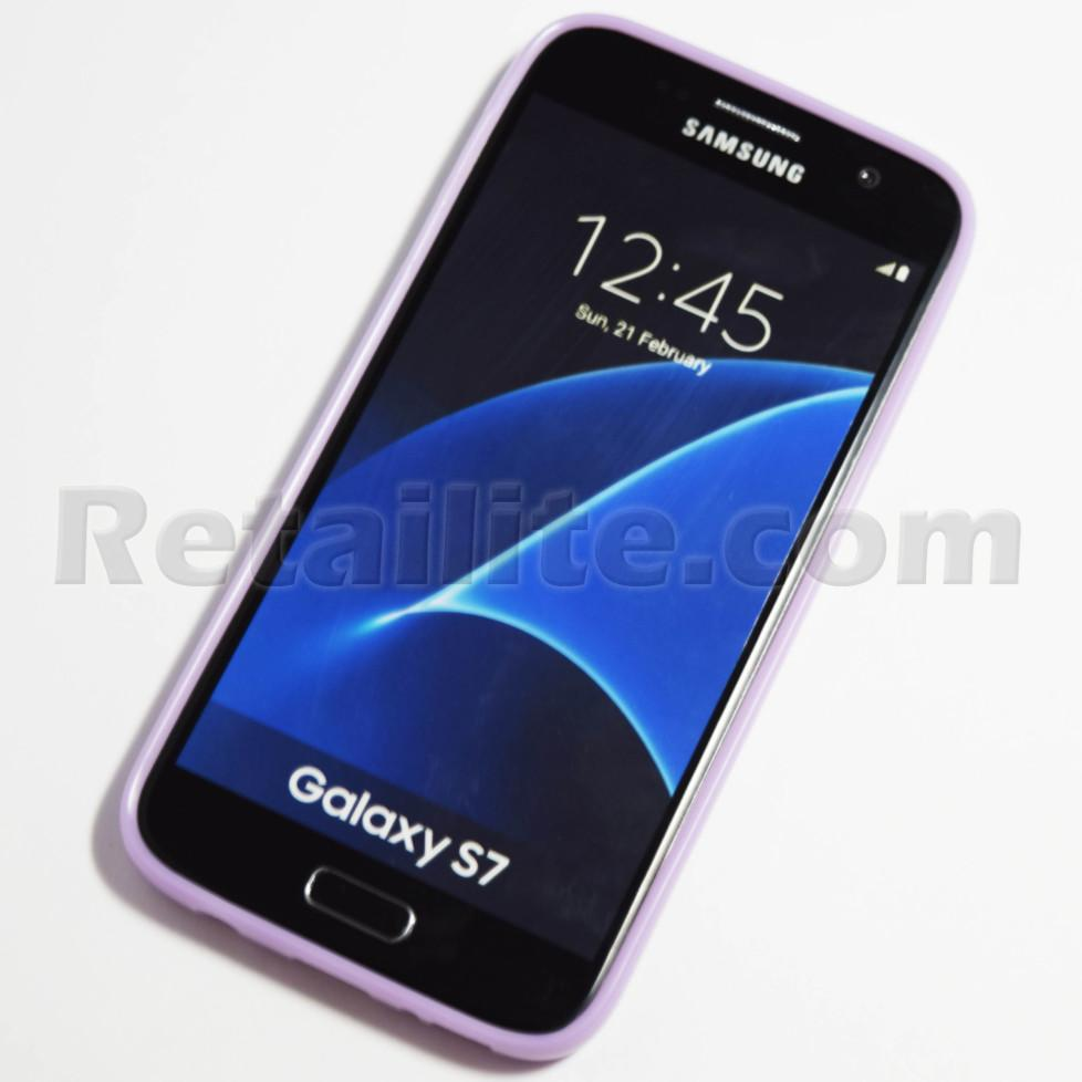 Purple Samsung Galaxy S7 Soft Case Retailite