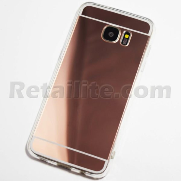 rose gold samsung galaxy s7 edge mirror case retailite. Black Bedroom Furniture Sets. Home Design Ideas