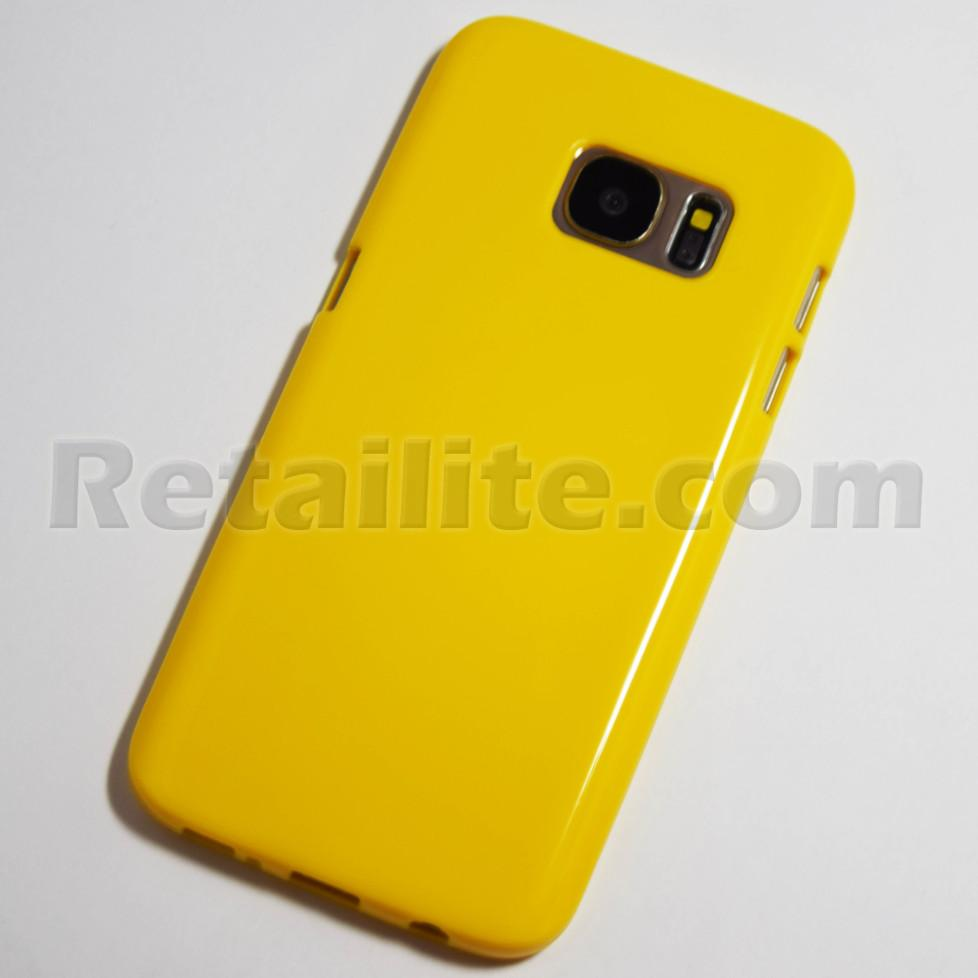 Yellow Samsung Galaxy S7 Soft Case Retailite