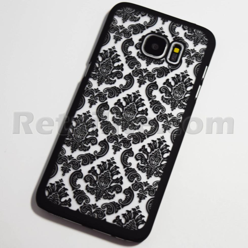 vintage black galaxy s7 edge case