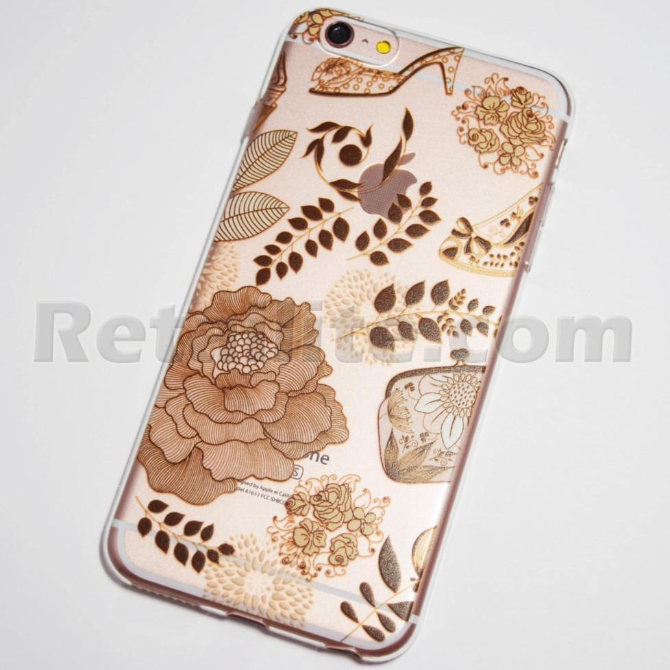 beige flowers iphone 6s plus soft case