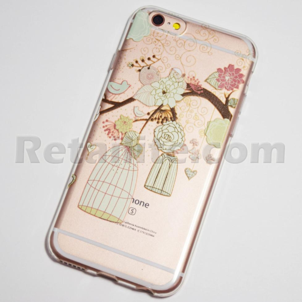 birds and flowers iphone 6s case