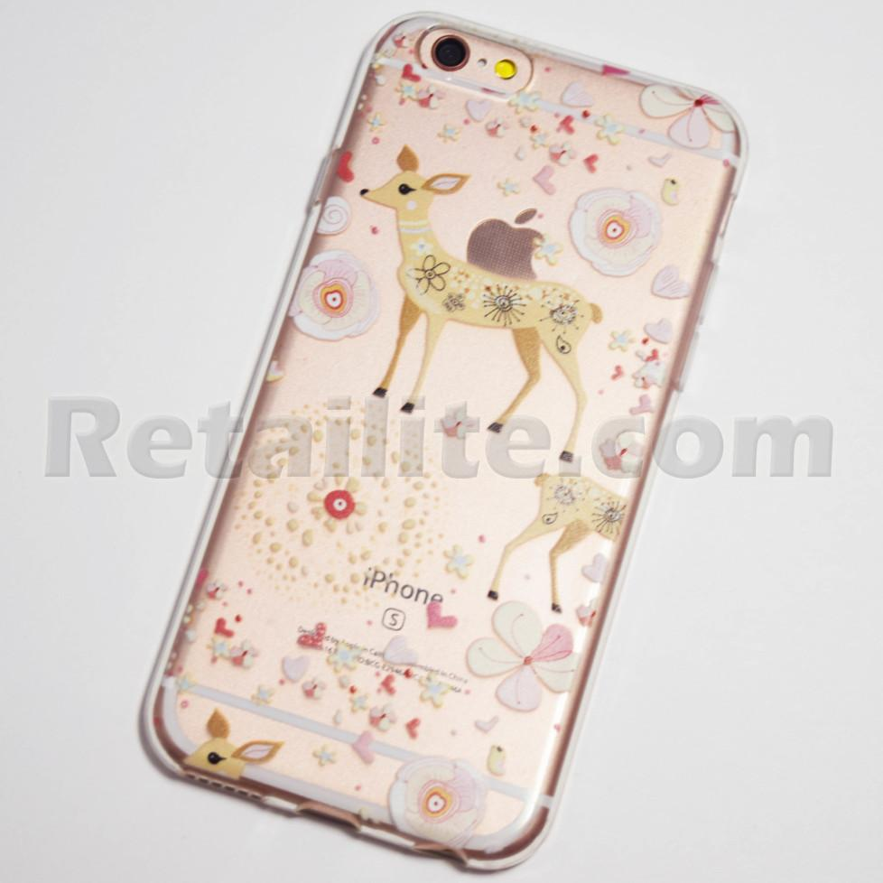 deer and flowers iphone 6s case