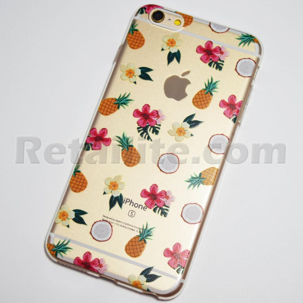 flowers coconuts pinapples iPhone 6s plus case