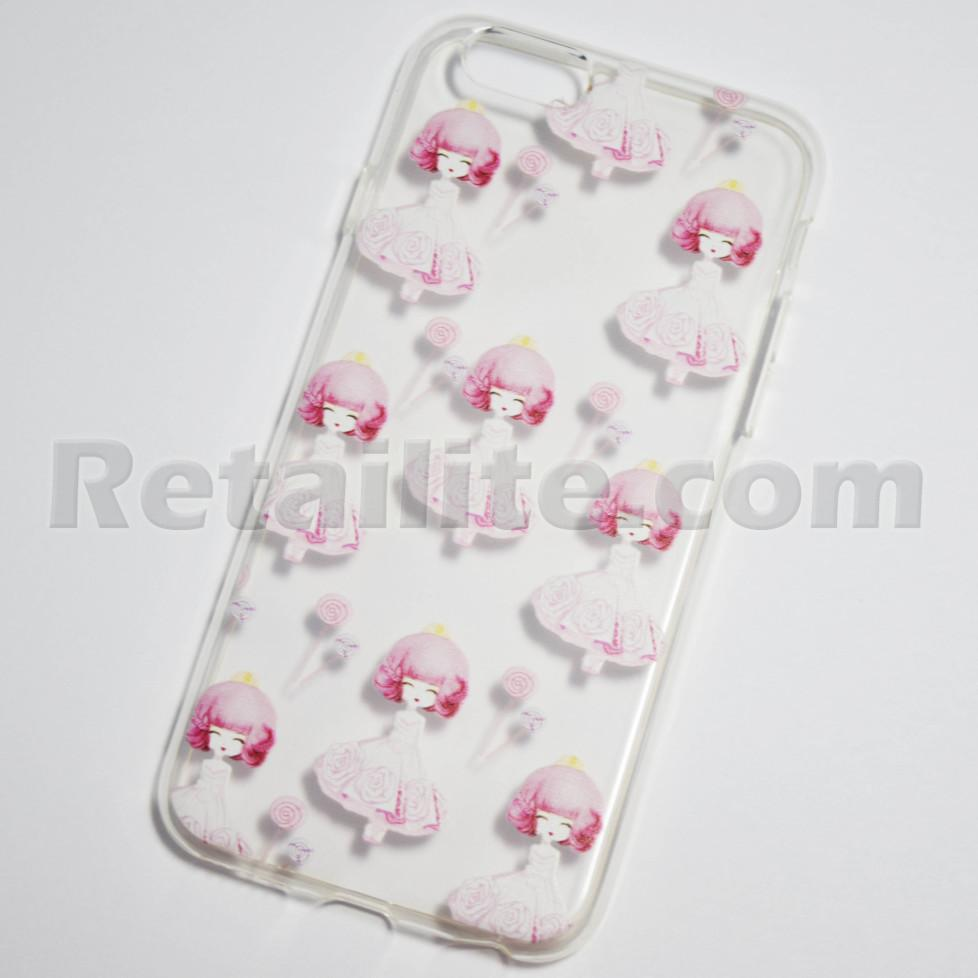 Girl in pink dress with flowers iphone 6 6s soft clear case girl in pink dress with flowers iphone 6s case mightylinksfo